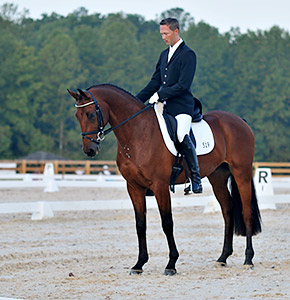 Clark Montgomery on Universe - dressage